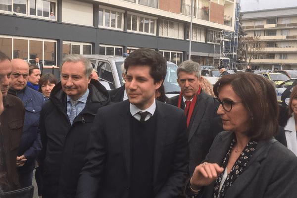 Julien Denormandie à son arrivée à Colomiers, lundi 8 avril 2019.
