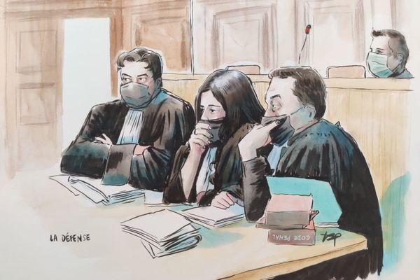 Me Schwerdorffer, Me Spatafora, Me Esteve, les trois avocats de Jonathann Daval.