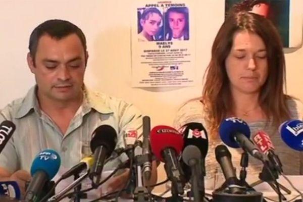 Les parents de Maëlys s'étaient exprimés lors d'une conférence de presse le 28 septembre 2017.