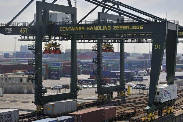 Le port de Zeebruges.