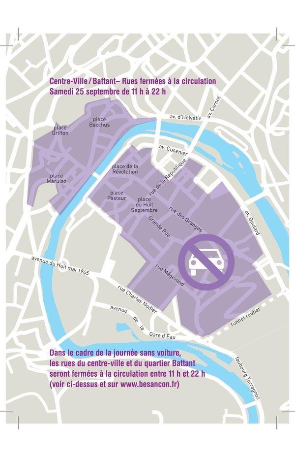 A l'occasion de la journée sans voiture, de nombreuses rues du centre ville seront fermées à a circulation automobile.