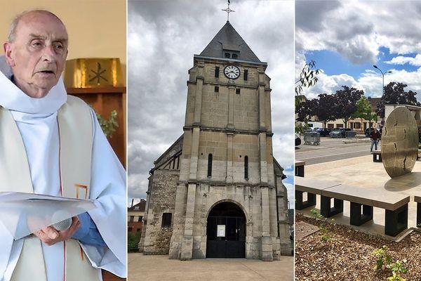 L'Eglise Saint Etienne à Saint-Etienne-du-Rouvray où le père Jacques Hamel a été tué le 26 juillet 2016.