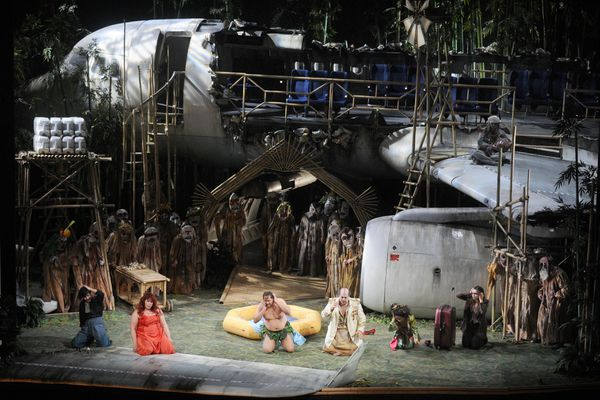 L'avion sur la scène de l'Opéra national de Lorraine en 2012.