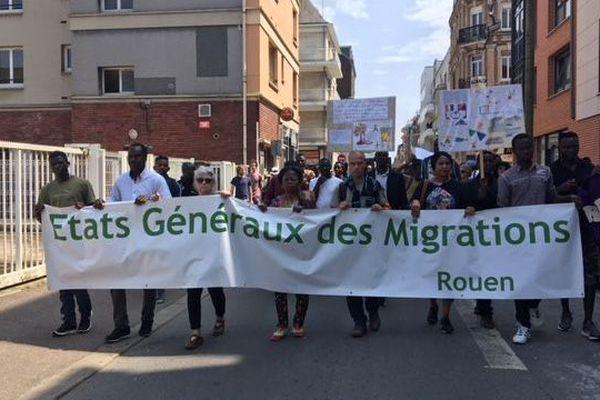 9 juin 2018 : manifestation dans les rues de Rouen entre la rive gauche et la rive droite