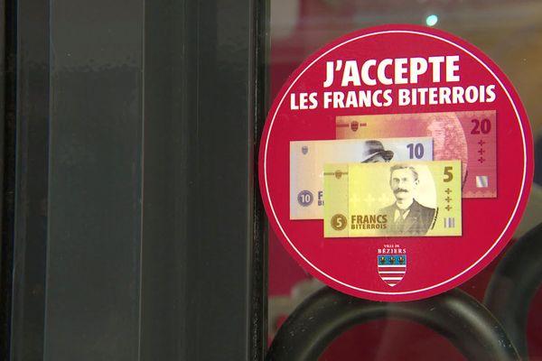 Béziers (Hérault) - la mairie lance une nouvelle monnaie, le Franc biterrois, pour les commerces du centre-ville - septembre 2021.