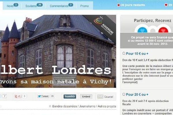 """Pour sauver la maison d'Albert Londres, l'association """"Regarder et agir à Vichy"""" fait appel au crowdfunding, ou financement participatif sur internet."""
