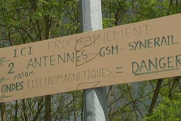 Chantier d'antenne GSM à Ambazac