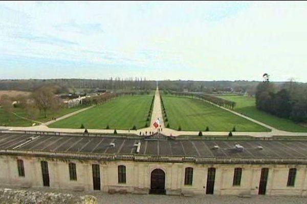 Chambord : vue depuis la terrasse du château