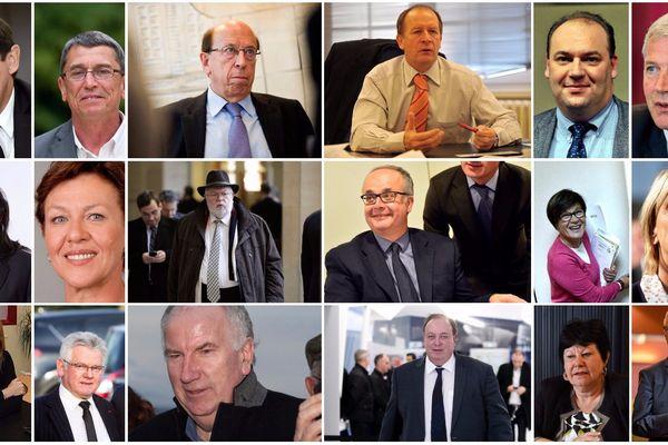 Les 18 sénateurs du Nord et du Pas-de-Calais.
