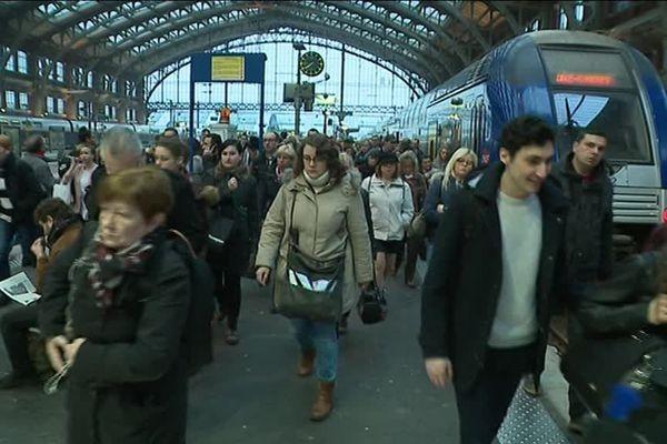Moins d'un TER sur six est prévue en circulation dimanche 29 avril