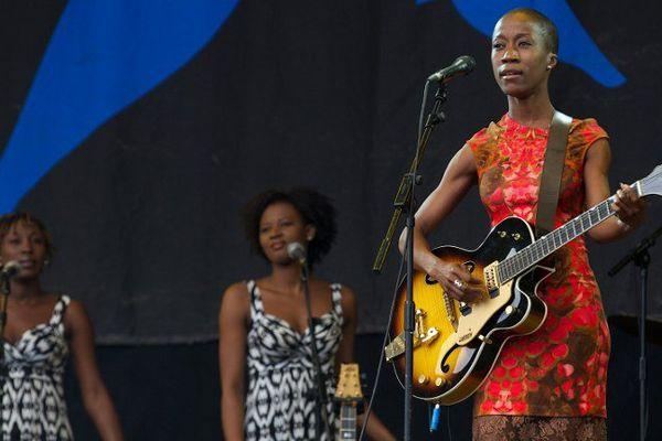 Rokia Traoré en 2013 au festival de Glastonbury