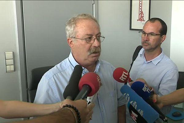 Marc Vuillemot, maire socialiste (PS) de La Seyne, a tenu une conférence de presse ce lundi.