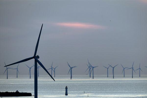 Le parc éolien de NEW BRIGHTON au ROYAUME-UNI
