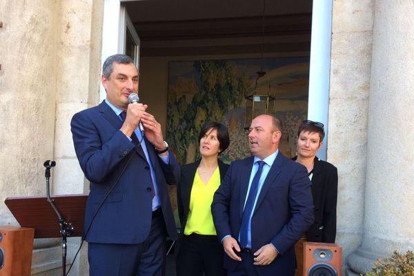 Olivier Cigolotti (à gauche de la photo) et Laurent Duplomb (à gauche de l'image) ont été élus sénateurs de Haute-Loire dès le premier tour.