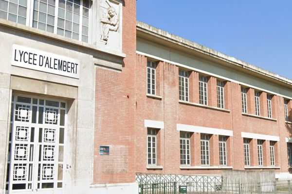 Le lycée professionnel d'Alembert, à Aubervilliers en Seine-Saint-Denis (illustration).
