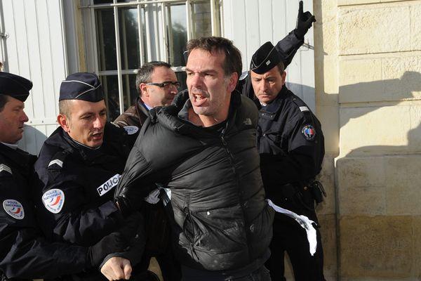 Franck Gavoux avait pris à partie Manuel Valls tandis que le Premier Ministre déambulait sur le port de La Rochelle, le 30 août 2014.