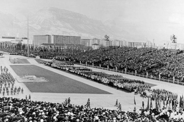 La cérémonie d'ouverture des JO le 6 février 1968
