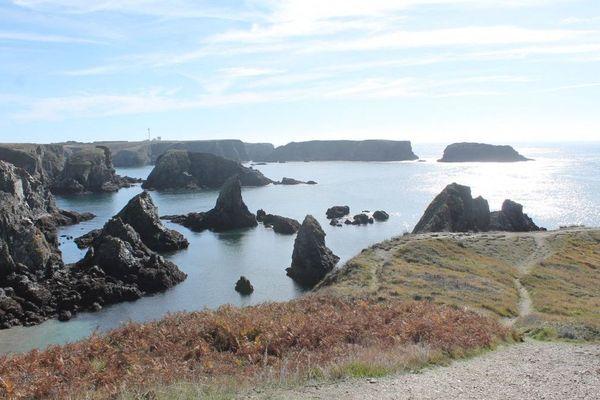 Les aiguilles de Port Coton sur la commune de Bangor à Belle-île-en-Mer