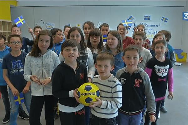 La Suède accueillie à Pornichet pour l'Euro 2016, les enfants l'attendent