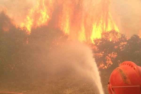 Un incendie dans le Gard - 26 juillet 2017