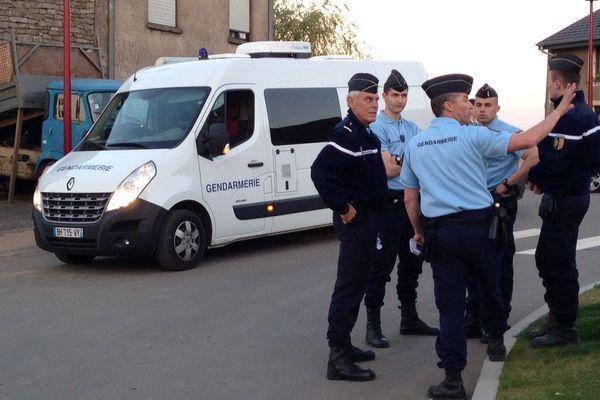 Equipes de gendarmerie Place de Belfort