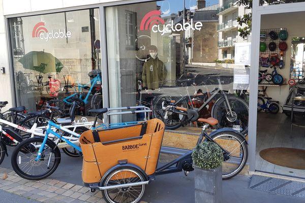 Magasin de vélos à Tours