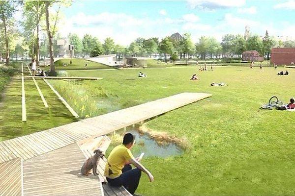 Un des aspects de la future métamorphose du quartier du Champs de Mars à Lille