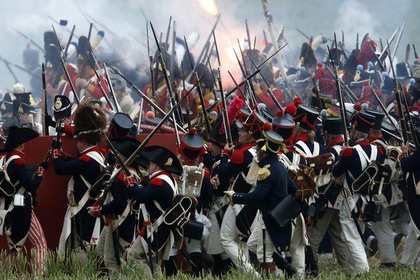 Reconstitution de la bataille de Waterloo, le 19 juin 2015