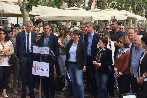 Présentation officielle de la candidature Castellani-Ponzevera pour Per a Corsica, dans la première circonscription de Haute-Corse.