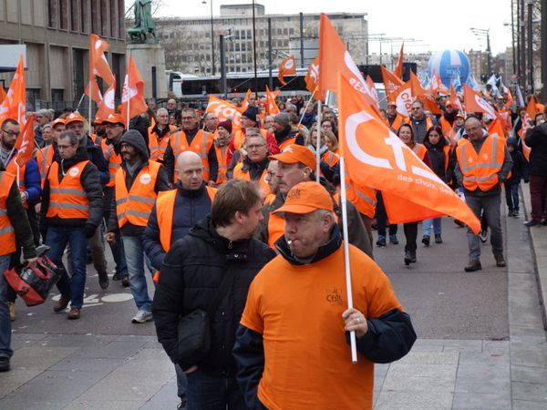 La CFDT mobilisée ce mardi 17 décembre à Rouen