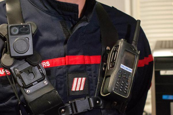Trois caméra piétons vont équiper les pompiers du centre de secours principal de l'Académie à Angers à compter du 21 décembre 2019