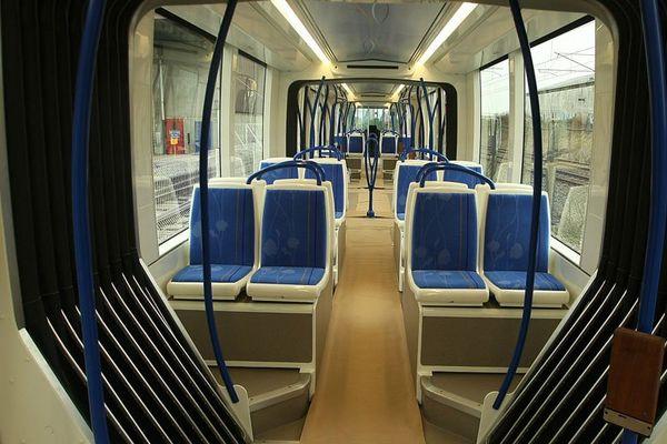 L'intérieur du tramway Citadis d'Alstom, le futur tramway caennais