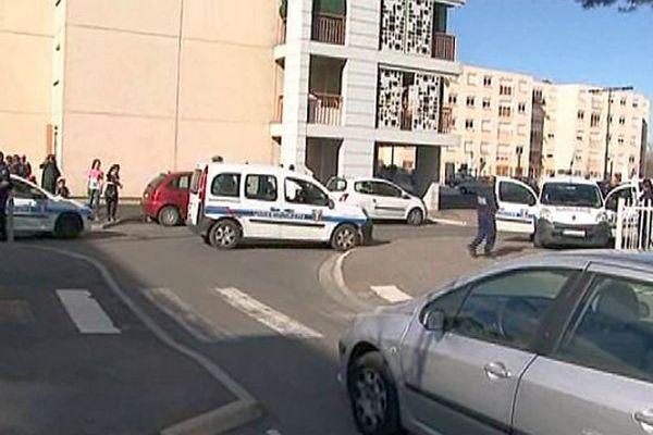 Les échauffourées ont duré une heure et demi dans le quartier Vernet-Salanque à Perpignan - 11 mars 2015.
