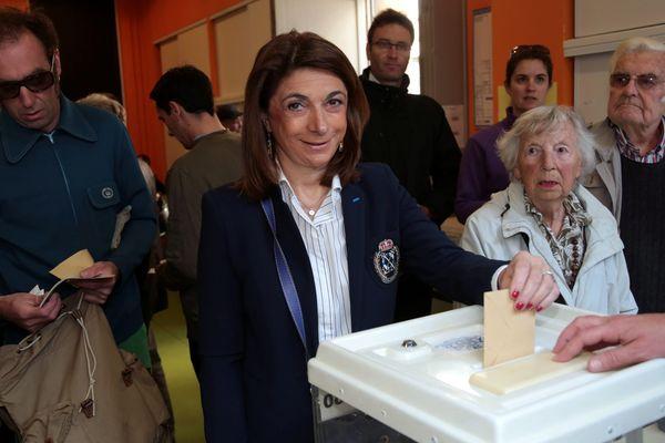 Martine Vassal présidente du Conseil départemental des Bouches du Rhône à Marseille