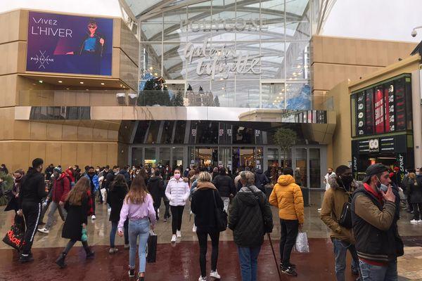 Au Polygone de Montpellier, beaucoup d'affluence ce samedi après-midi.