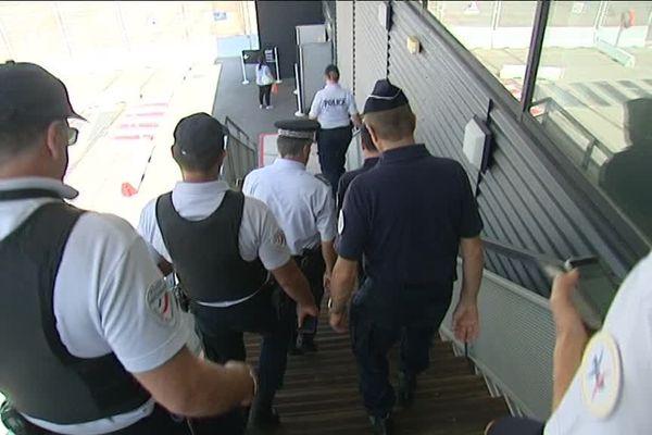 Les acteurs de la sécurité en opération dans l'enceinte du Grand Port Maritime de Marseille