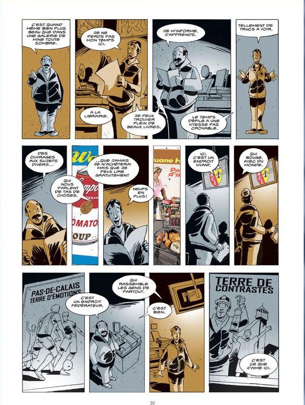 """Planche de la BD """"Le Grand A"""" par Jean-Luc Loyer et Xavier Bétaucourt"""