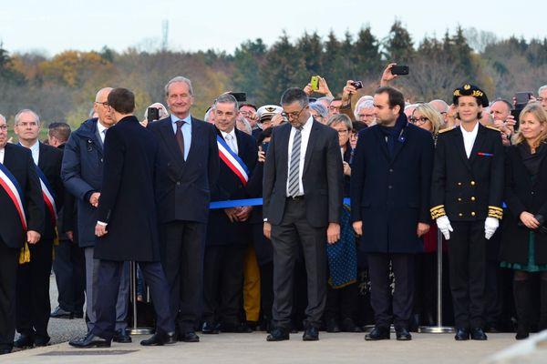 Le président Emmanuel Macron lors de sa venue à l'ossuaire de Douaumont près de Verdun en novembre 2018.