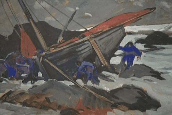 Une toile de Mathurin Méheut