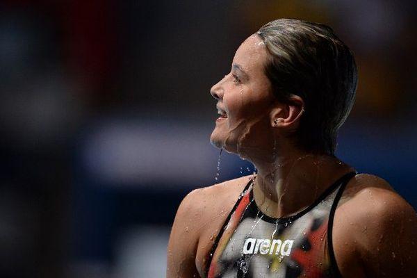 Mélanie Hénique aux championnats du monde de Barcelone en août 2013