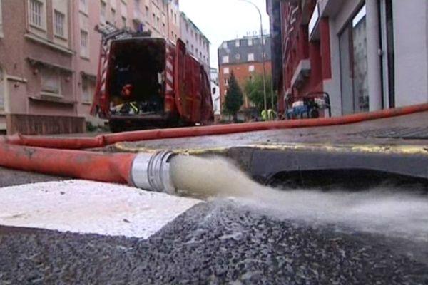 Les opérations de pompage ont commencé dimanche matin.