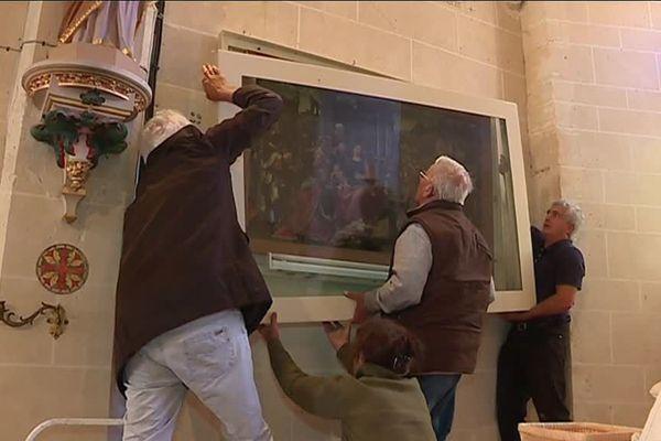 Le tableau de l'église de Cudot (89) va partir au musée du Louvre