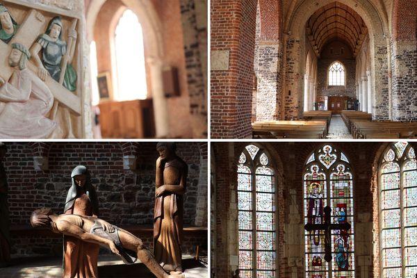 L'intérieur de l'église Saint-Folquin d'Esquelbecq