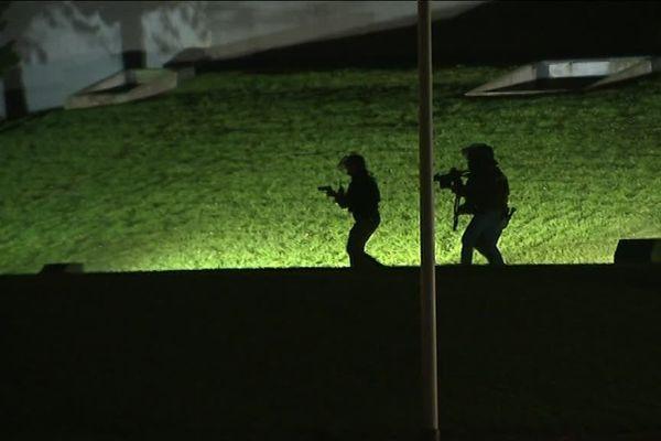 Exercice attentat au Mémorial de Caen, lundi 4 décembre 2017