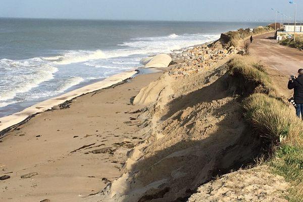 La dune de Gouville-sur-Mer ce vendredi 14 février 2020