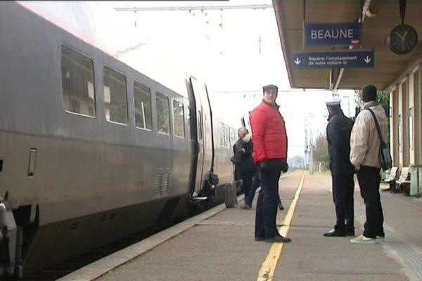 Les TGV ne s'arrêtent plus à Beaune depuis le mois d'août. (archives)