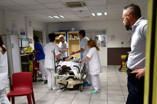 Illustration au service d'urgences de l'Hôpital Nord de Marseille