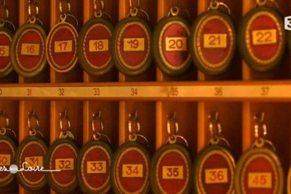 Les clés des chambres du château de Rochecotte en Indre-et-Loire