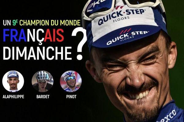 Les Français Julian Alaphilippe et Romain Bardet figurent parmi les favoris. Suivez la course, en direct, à partir de 13h35.