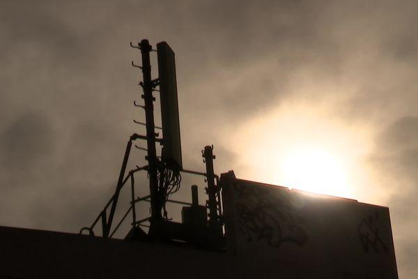 Une antenne 5G installée à Montpellier, en février 2021.